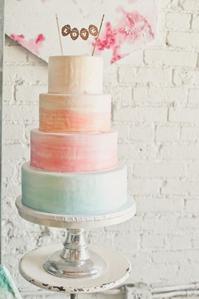 Watercolor Wedding Cakes  22 Watercolor Cakes Almost Too Pretty to Eat