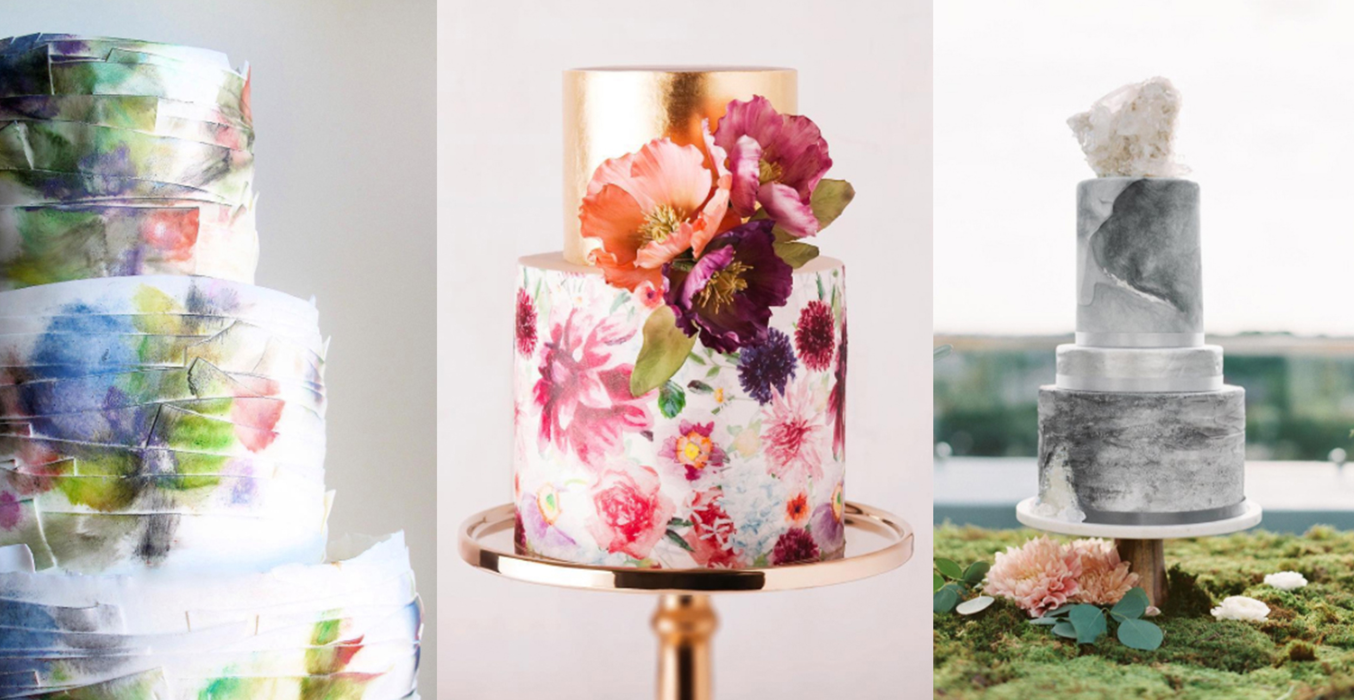 Watercolor Wedding Cakes  26 Watercolor Wedding Cakes That Will Take Your Breath