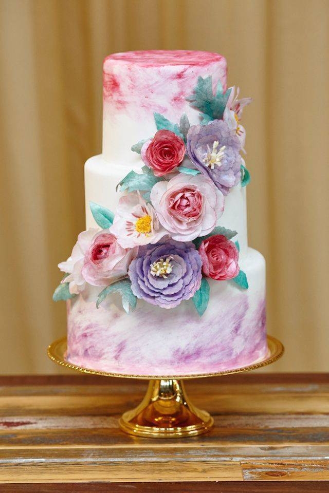 Watercolor Wedding Cakes  Watercolor Wedding Cakes for Your Artsy Wedding