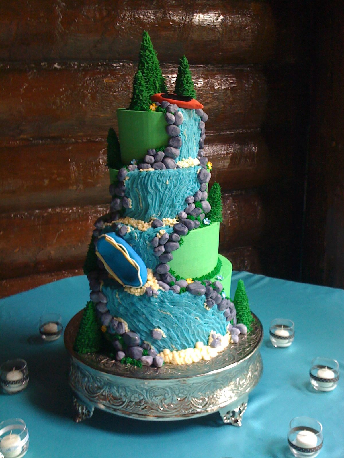 Waterfalls Wedding Cakes  Unique Wedding Cakes with Waterfall