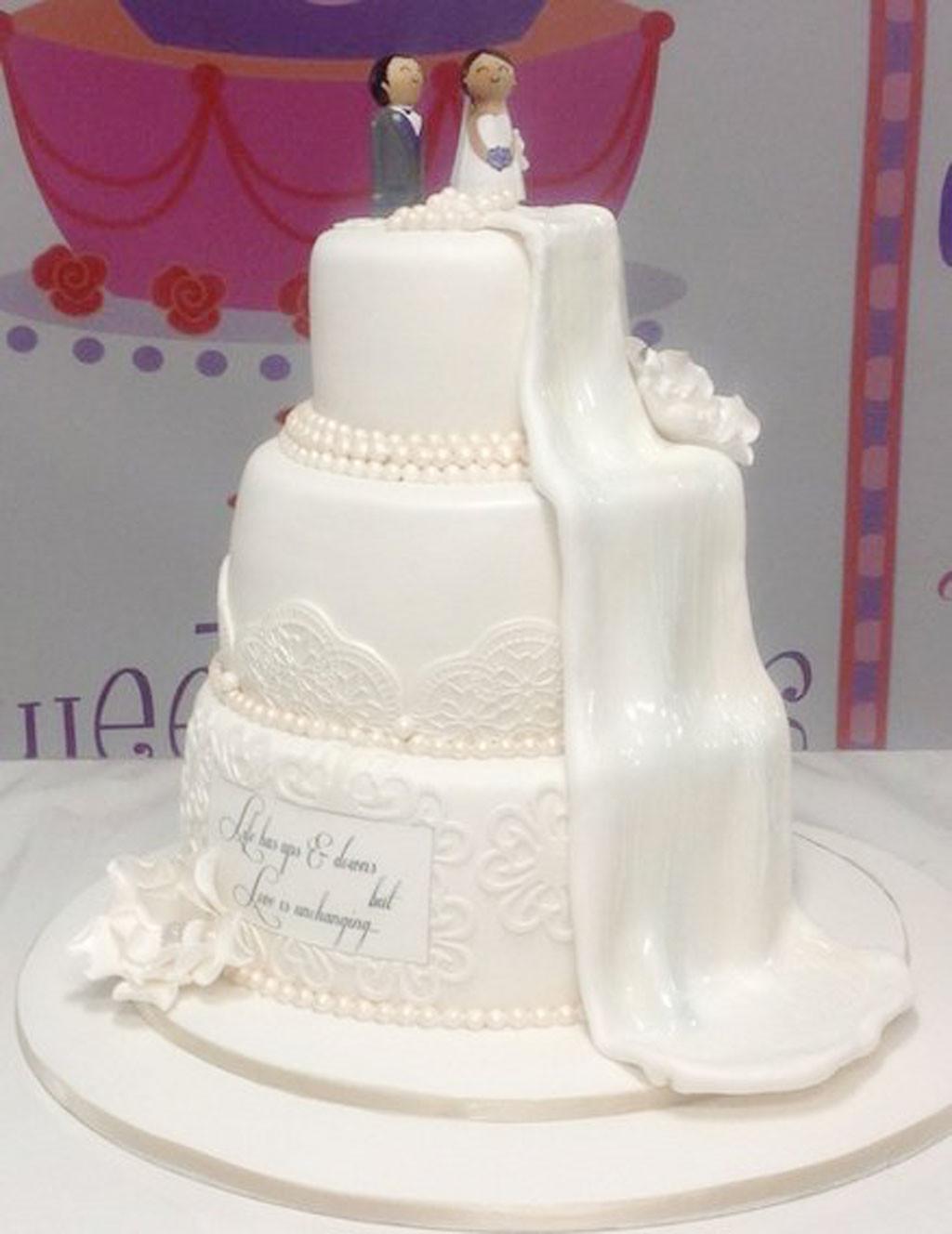 Waterfalls Wedding Cakes  Waterfall Wedding Cake Ideas Wedding Cake Cake Ideas by