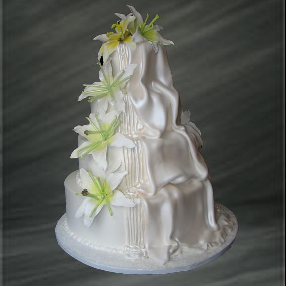 Waterfalls Wedding Cakes  Cascading Waterfall Wedding Cake • Palermo s Custom Cakes