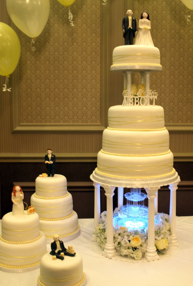 Waterfalls Wedding Cakes  Galleries Sugarpaste Wedding Cakes Donna Jane Cakes