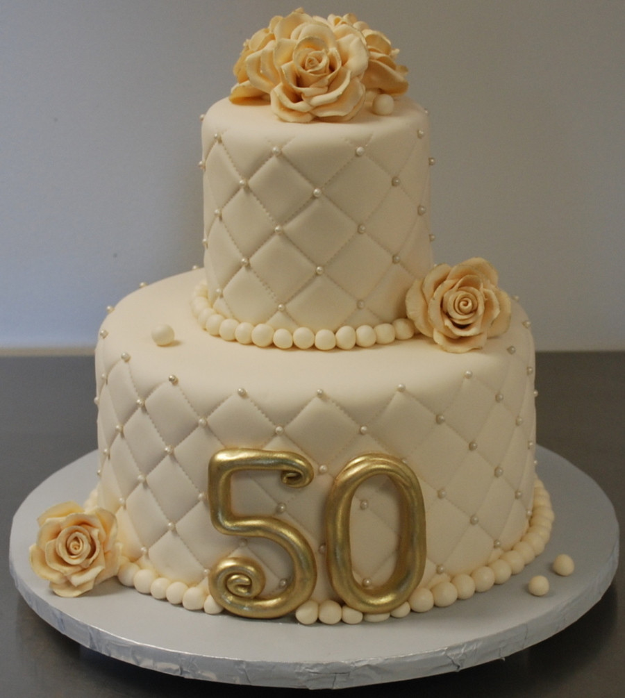Wedding Anniversary Cakes Images  50Th Wedding Anniversary Cake CakeCentral