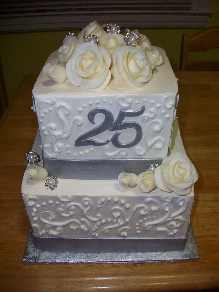 Wedding Anniversary Cakes Images  Silver Wedding Anniversary cake