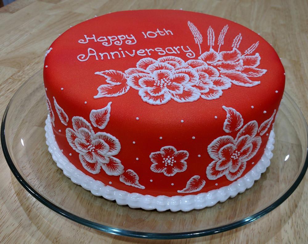 Wedding Anniversary Cakes Images  10th Anniversary cake