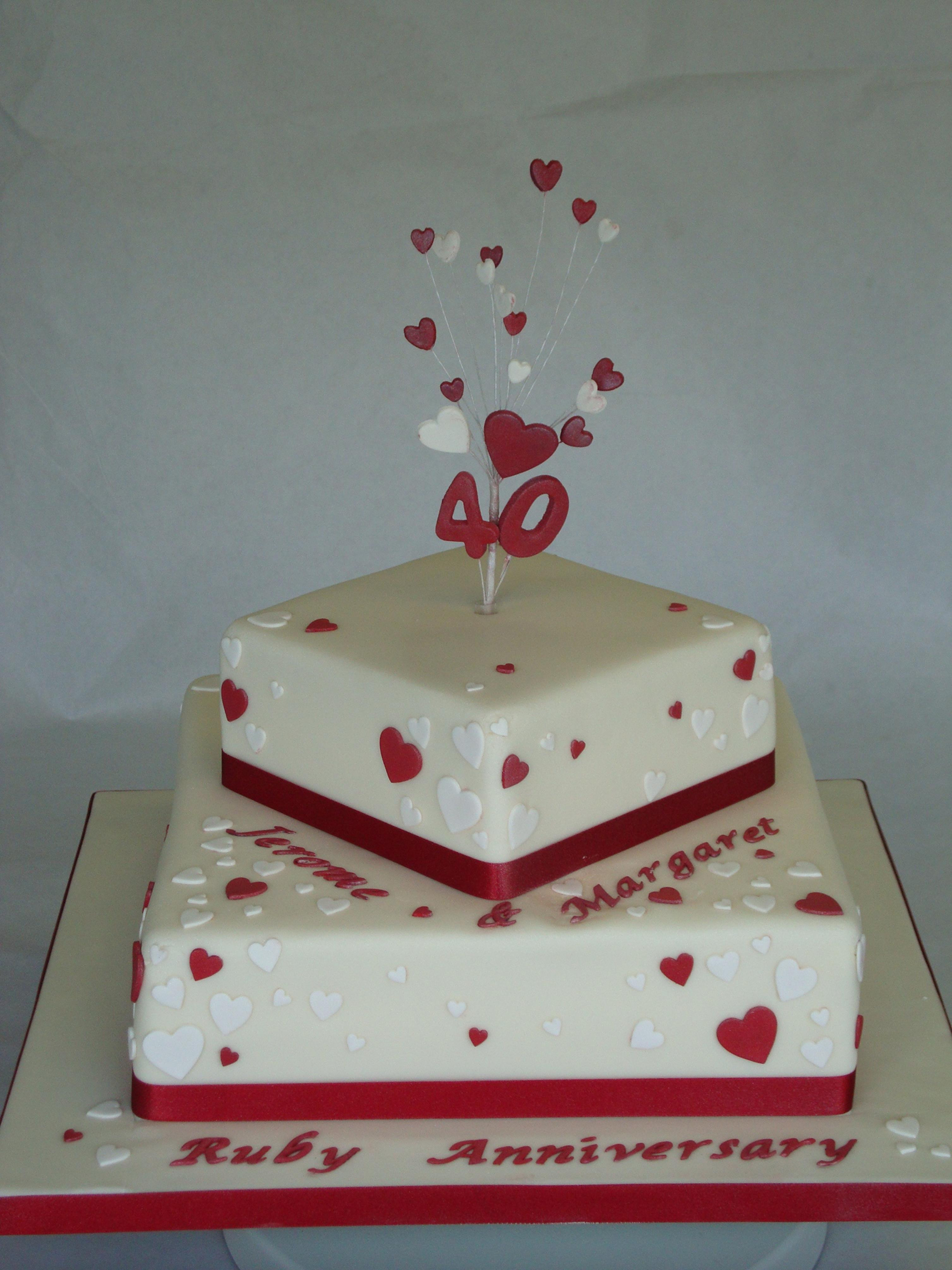 Wedding Anniversary Cakes Images  Cool Wedding Marriage Anniversary Cakes With Names