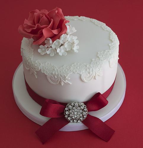 Wedding Anniversary Cakes Images  Vierzigster Hochzeitstag Rubinhochzeit Kuchen