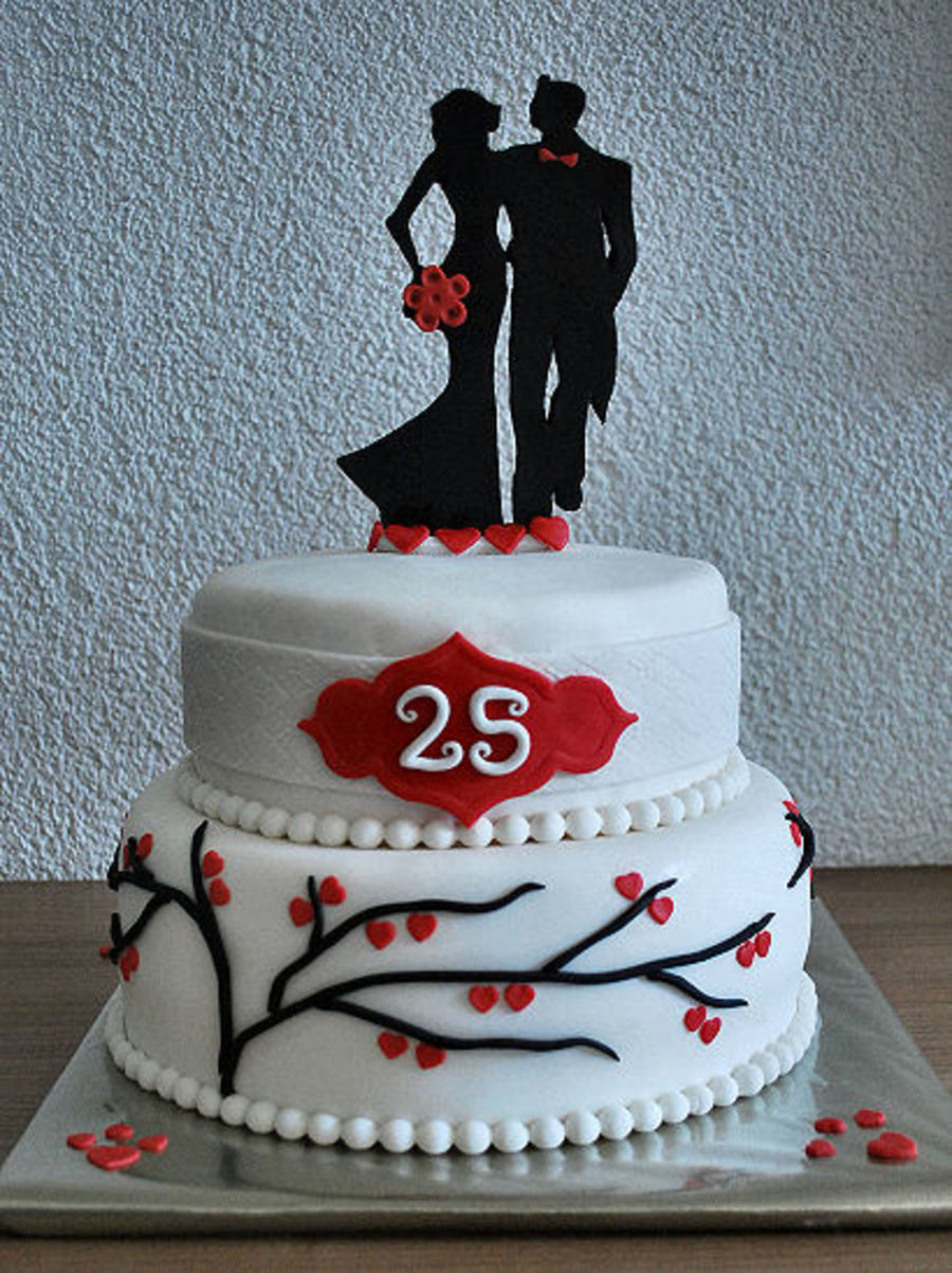 Wedding Anniversary Cakes Images  25Th Wedding Anniversary Cake CakeCentral