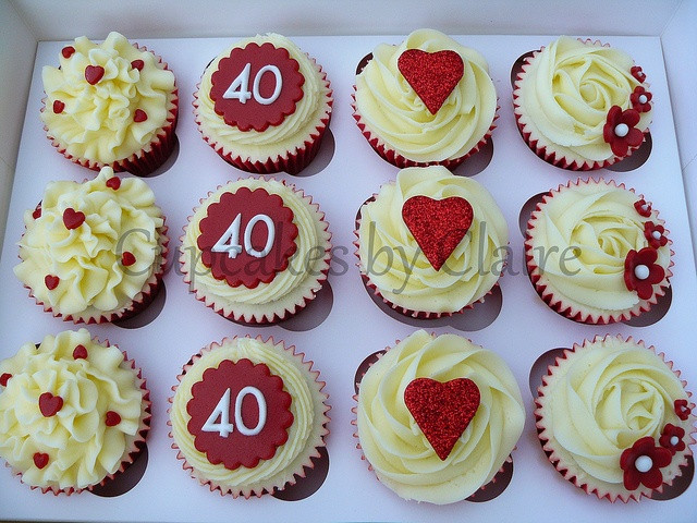 Wedding Anniversary Cupcakes Ideas  23 best images about 40th Anniversary ideas on Pinterest