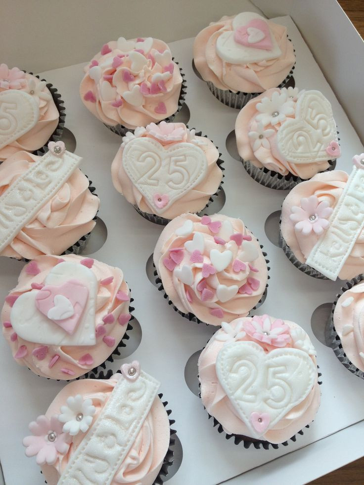 Wedding Anniversary Cupcakes Ideas  18 best Silver wedding anniversary cupcakes images on