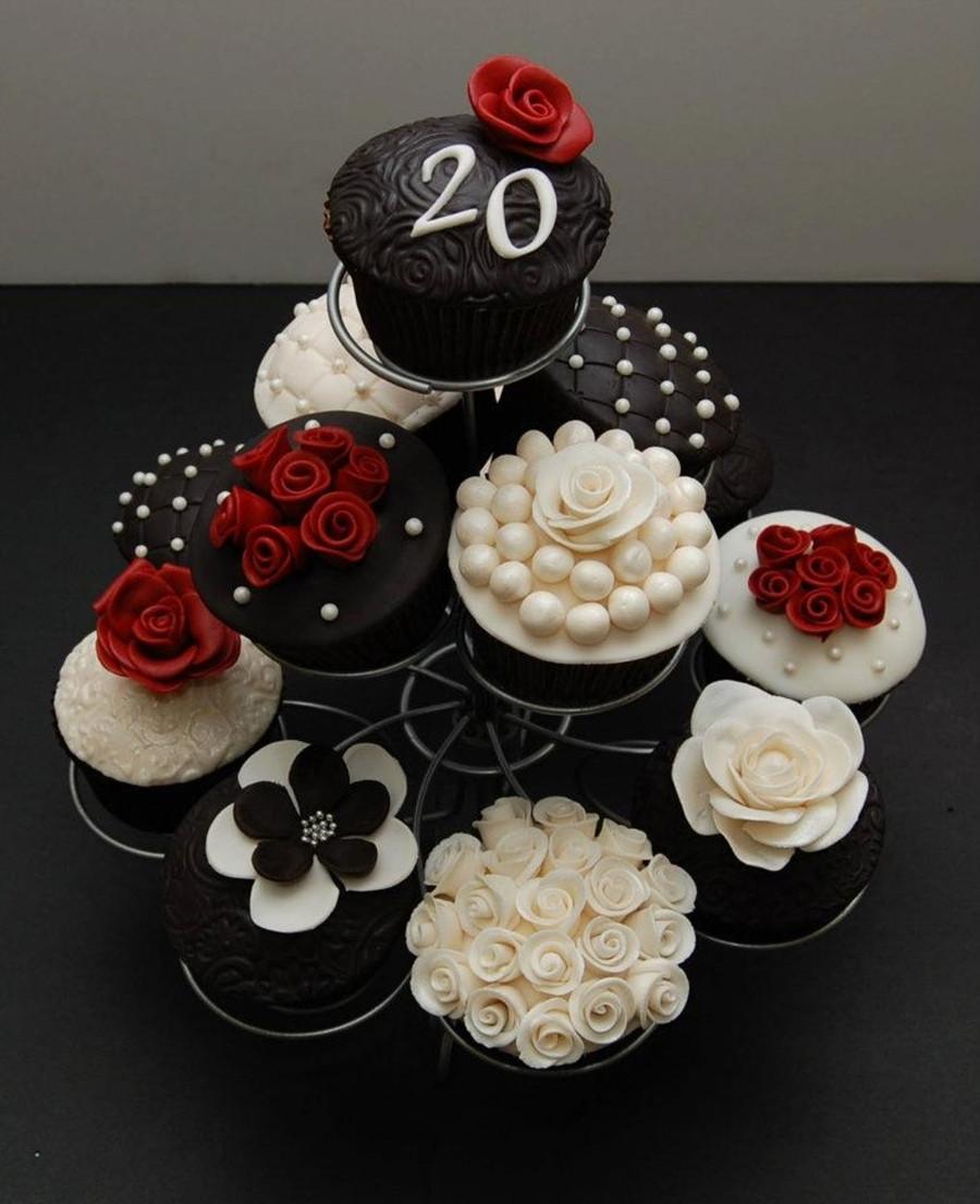 Wedding Anniversary Cupcakes Ideas  20Th Wedding Anniversary Cupcakes CakeCentral