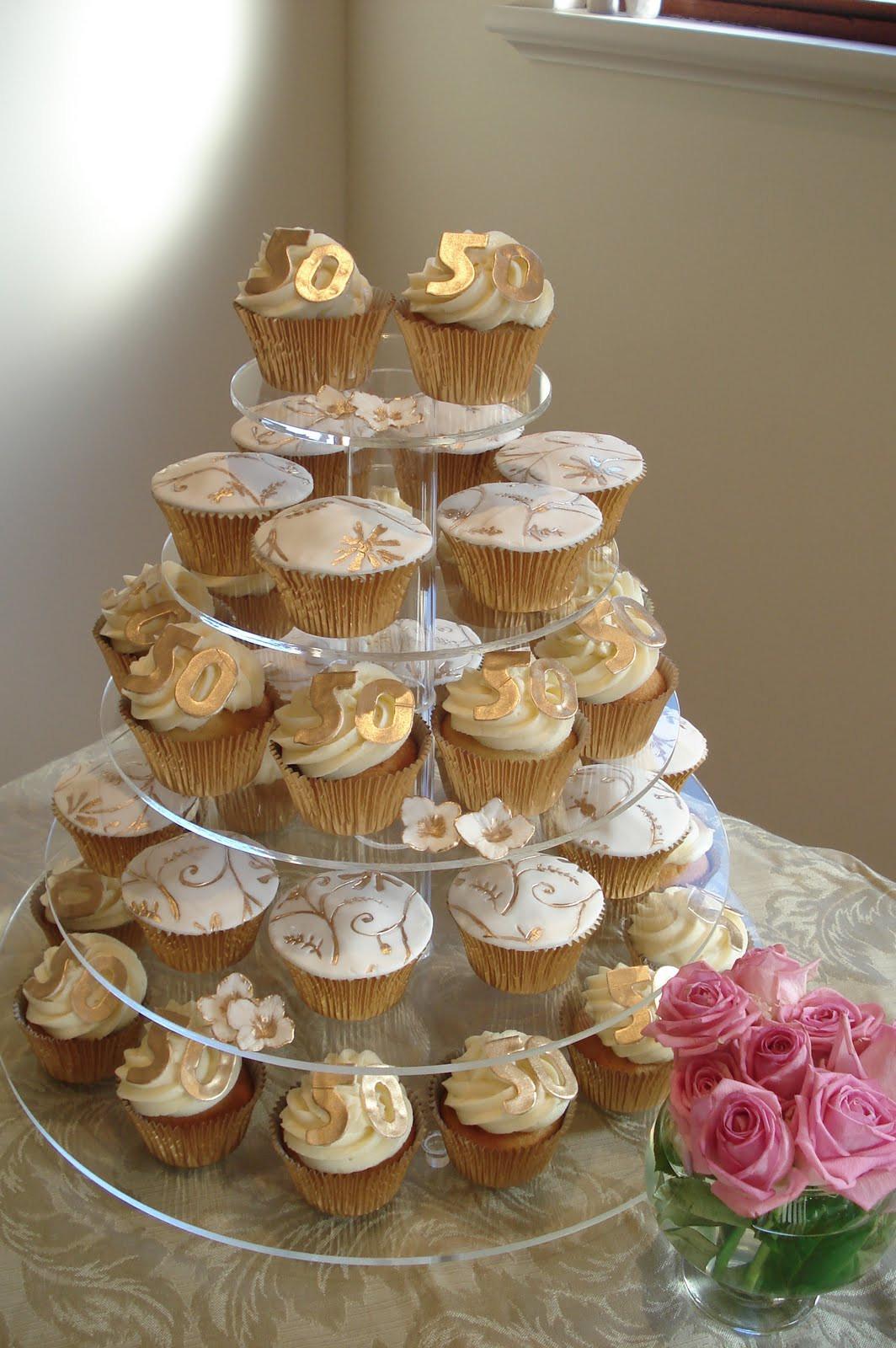 Wedding Anniversary Cupcakes Ideas  Wonderful World of Cupcakes Cupcakes for a 50th Wedding