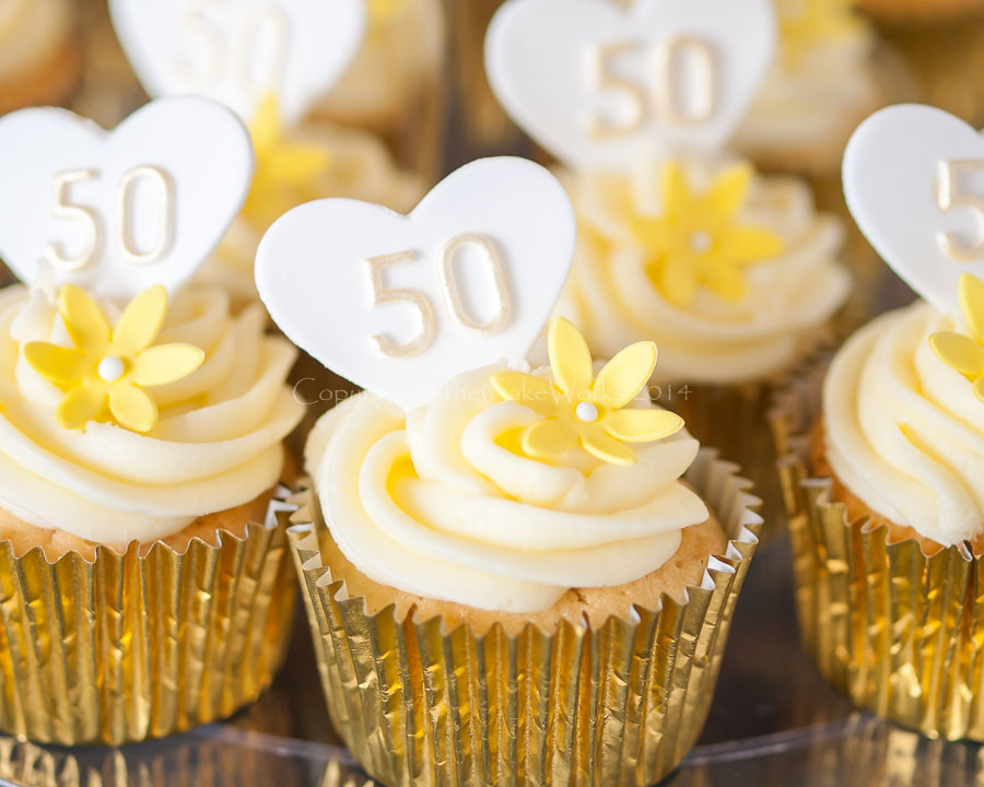 Wedding Anniversary Cupcakes Ideas  50th Wedding Anniversary Cupcake Ideas
