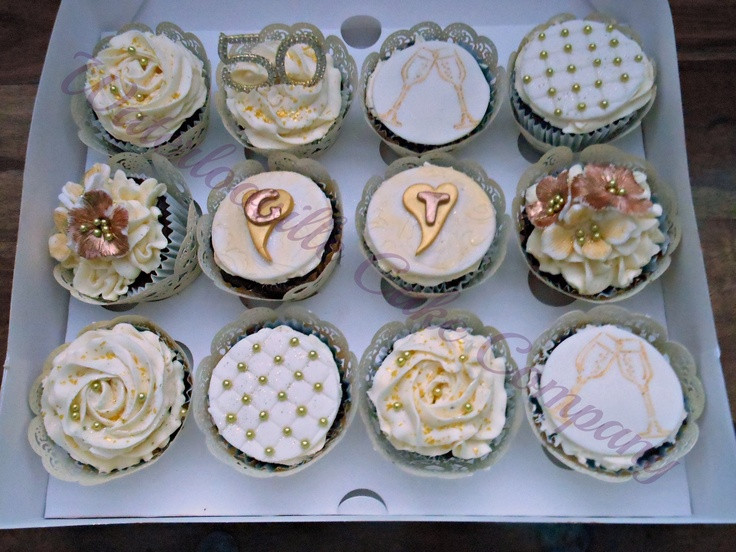 Wedding Anniversary Cupcakes Ideas  56 best 50th Anniversary Ideas images on Pinterest