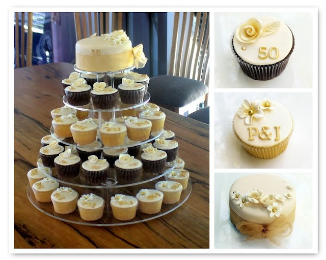 Wedding Anniversary Cupcakes Ideas  74 best images about 50th Wedding Anniversary Ideas on