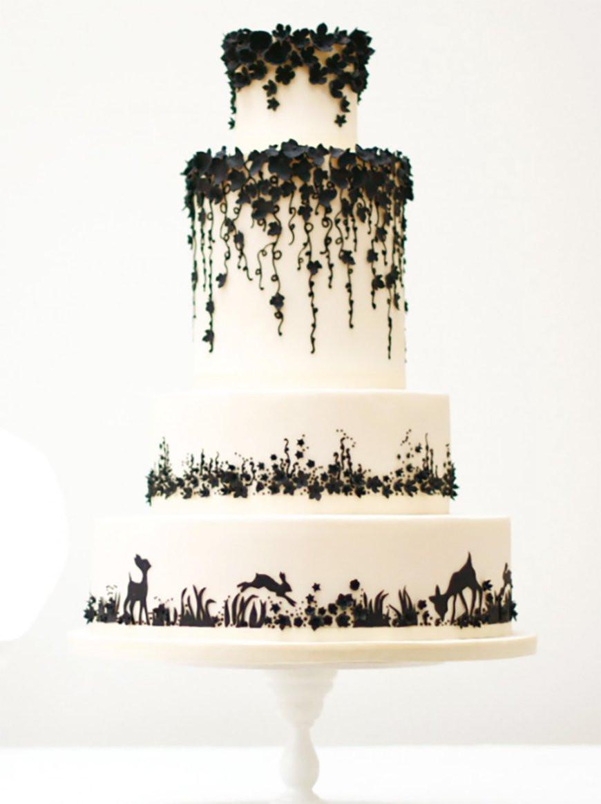 Wedding Cake Black And White  Black and White Wedding Theme Wedding Ideas by Colour