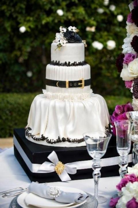 Wedding Cake Black And White  95 Stunning Black And White Wedding Cakes