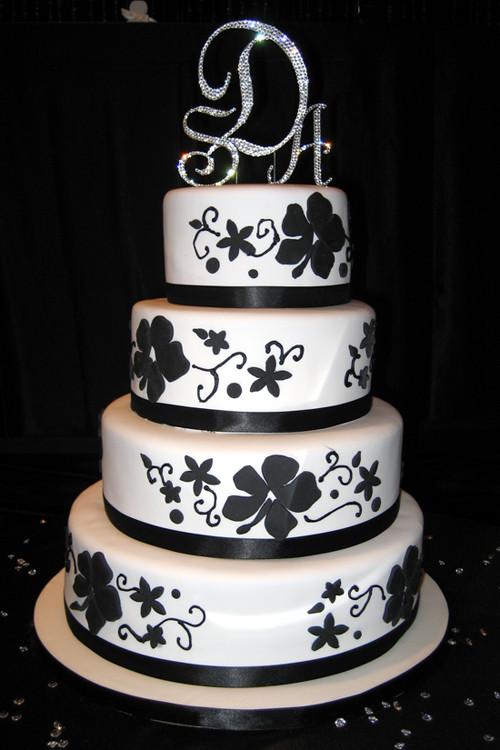 Wedding Cake Black And White  Amazing Black And White Wedding Cakes [40 Pic] Awesome