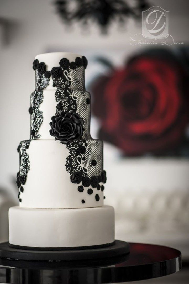 Wedding Cake Black And White  49 Amazing Black and White Wedding Cakes Deer Pearl Flowers