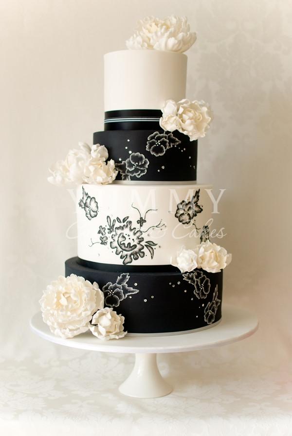 Wedding Cake Black And White  Wedding Cakes Black And White