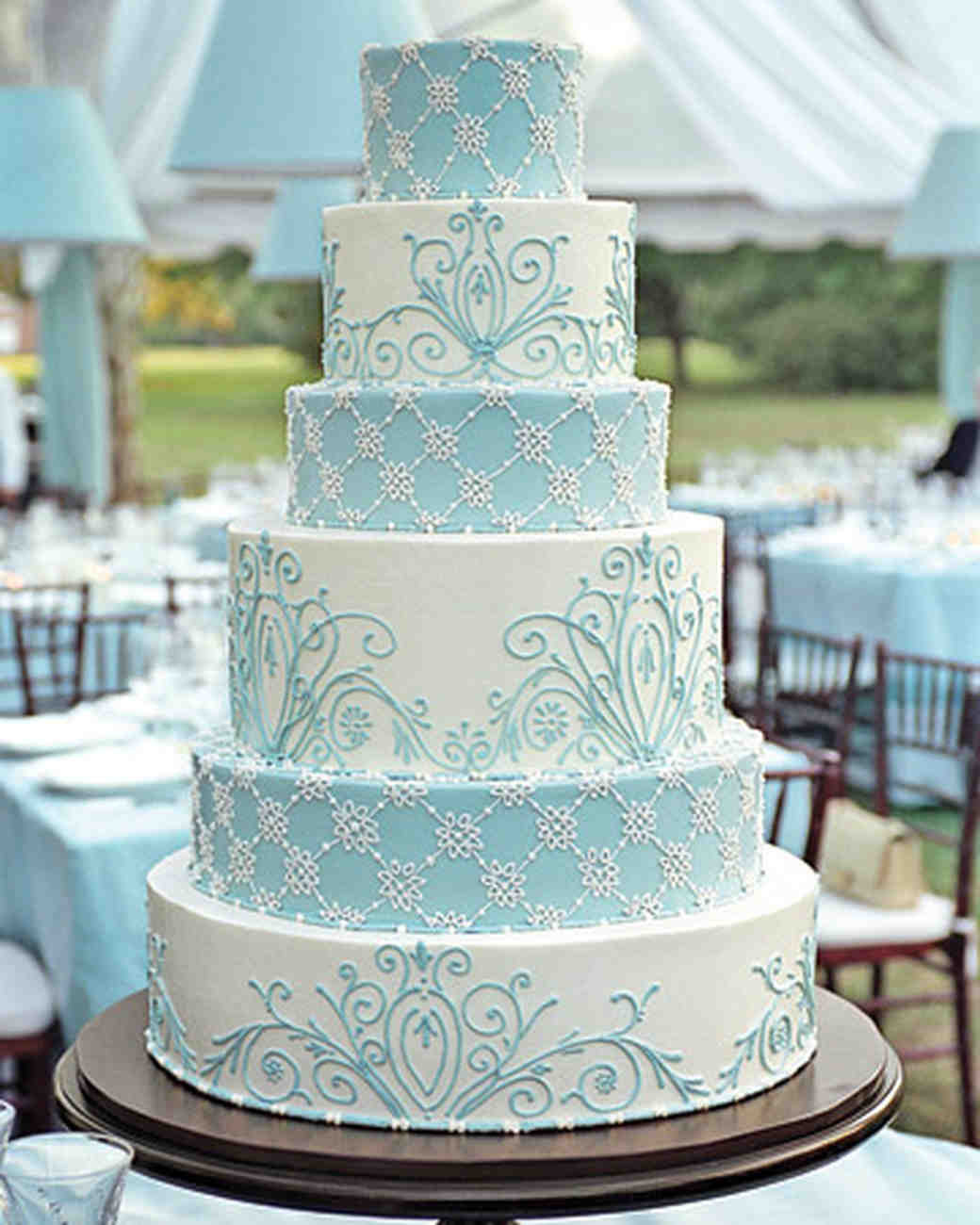 Wedding Cake Blue And White  Color Inspiration Pale Blue