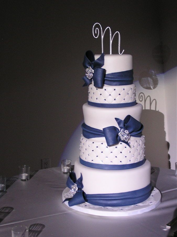 Wedding Cake Blue And White  25 best ideas about Blue white weddings on Pinterest