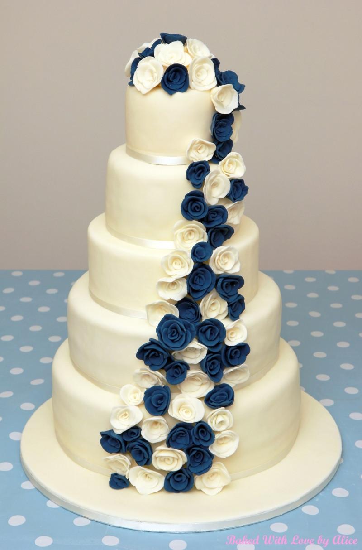 Wedding Cake Blue And White  Wedding Cakes Somerset