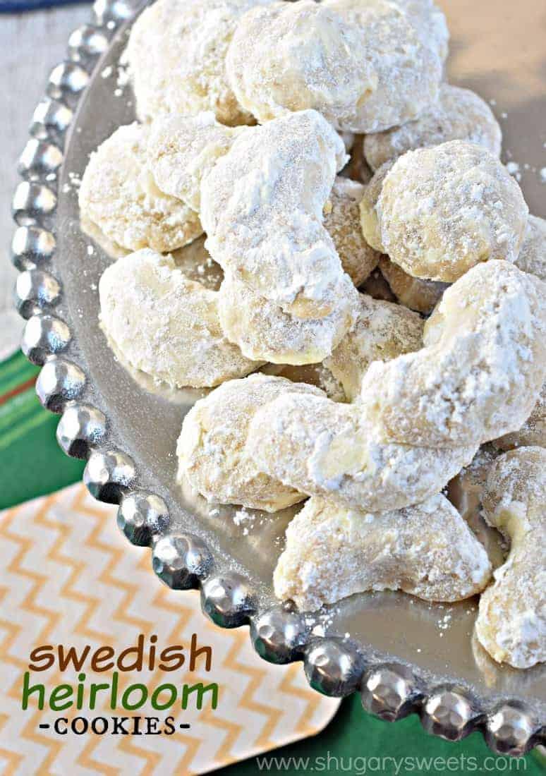 Wedding Cake Cookies Recipe  Swedish Heirloom Cookies Shugary Sweets