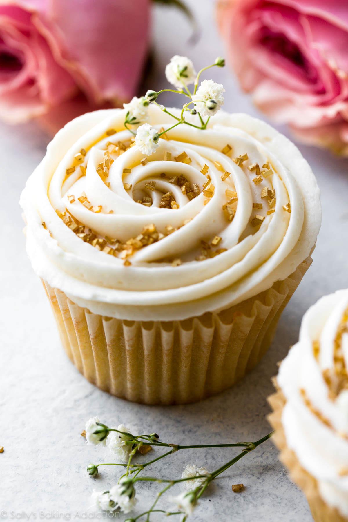 Wedding Cake Cupcake Recipe  Wedding Cupcakes with Champagne Frosting Sallys Baking