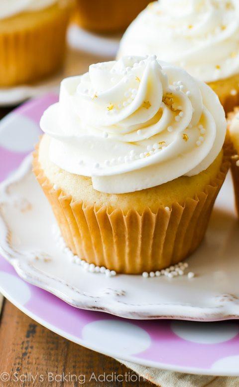 Wedding Cake Cupcake Recipe  White Wedding Cupcakes Sallys Baking Addiction