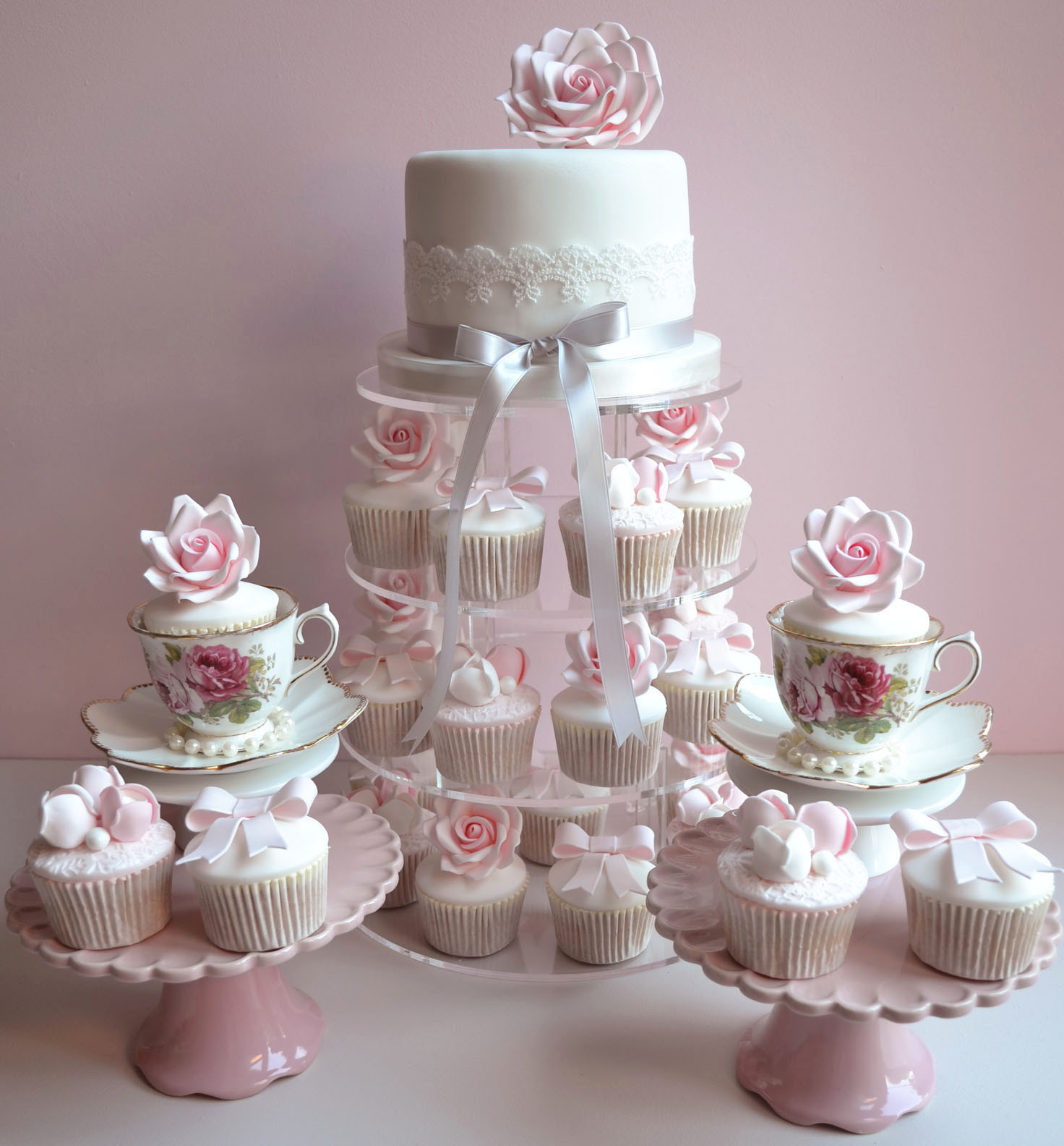 Wedding Cake Cupcakes  Little Paper Cakes Beautiful Vintage Wedding Cupcakes