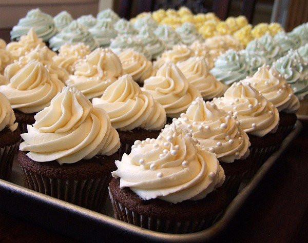 Wedding Cake Cupcakes With Buttercream Frosting  Wedding Cake Buttercream Icing All Created