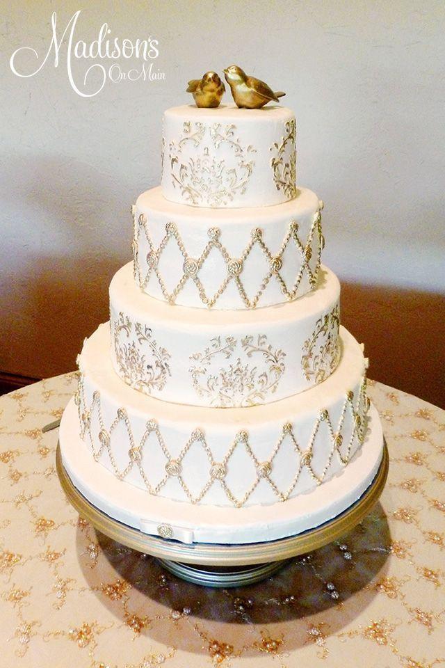 Wedding Cake Gold And White  Gold Wedding White & Gold Wedding Cakes Weddbook