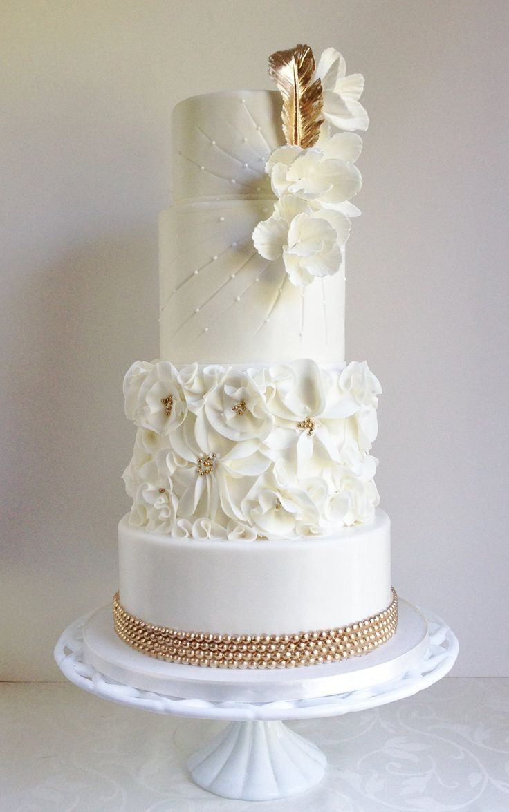 Wedding Cake Gold And White  Artistic and Wonderful Cakes Page 18 of 33