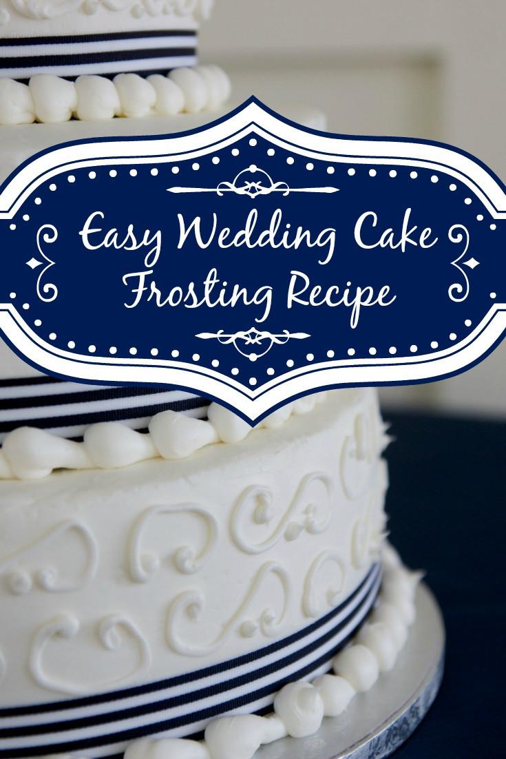 Wedding Cake Icing Recipe  Easy White Wedding Cake Frosting Recipe Shopping Kim