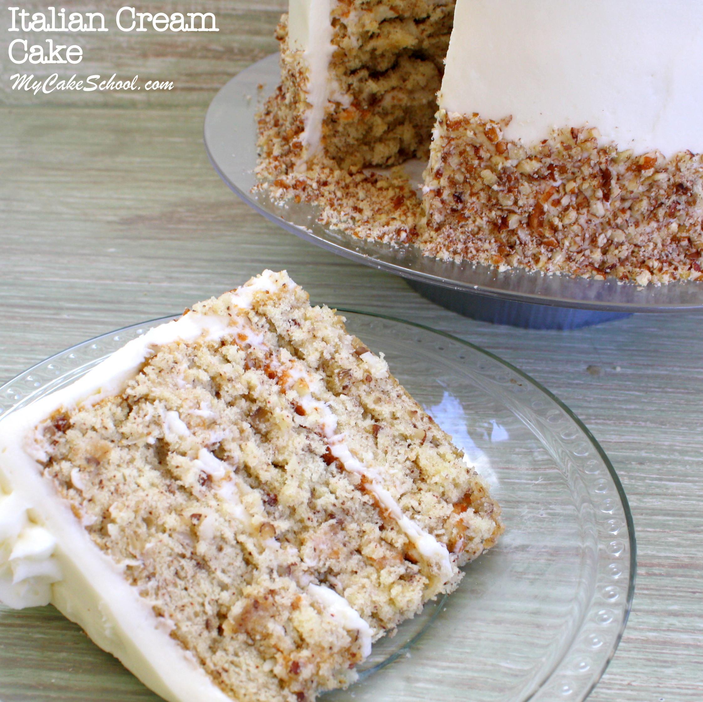 Wedding Cake Recipe From Scratch  Italian Cream Cake Scratch Recipe