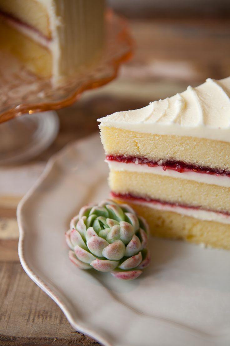 Wedding Cake Recipe From Scratch  Vanilla and Raspberry Jam Layer Cake