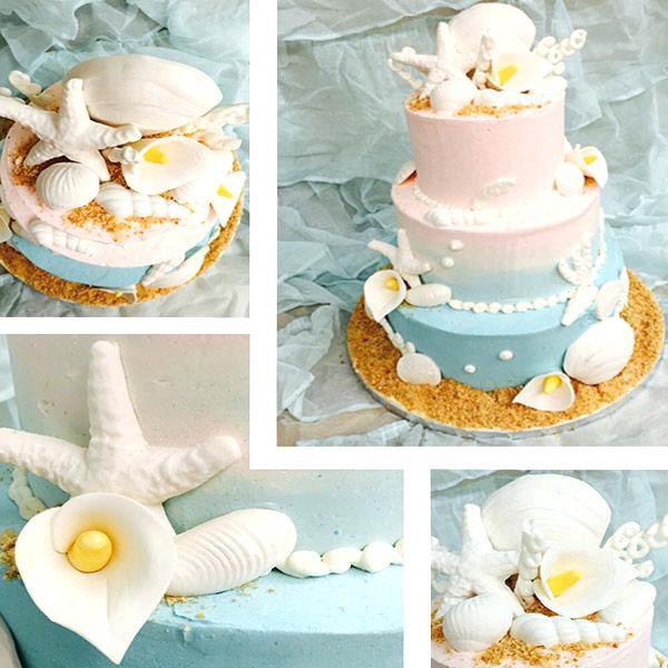 Wedding Cake Recipe From Scratch  Bech Bkery Ll Specil Occsions Wedding Cakes With Cupcakes