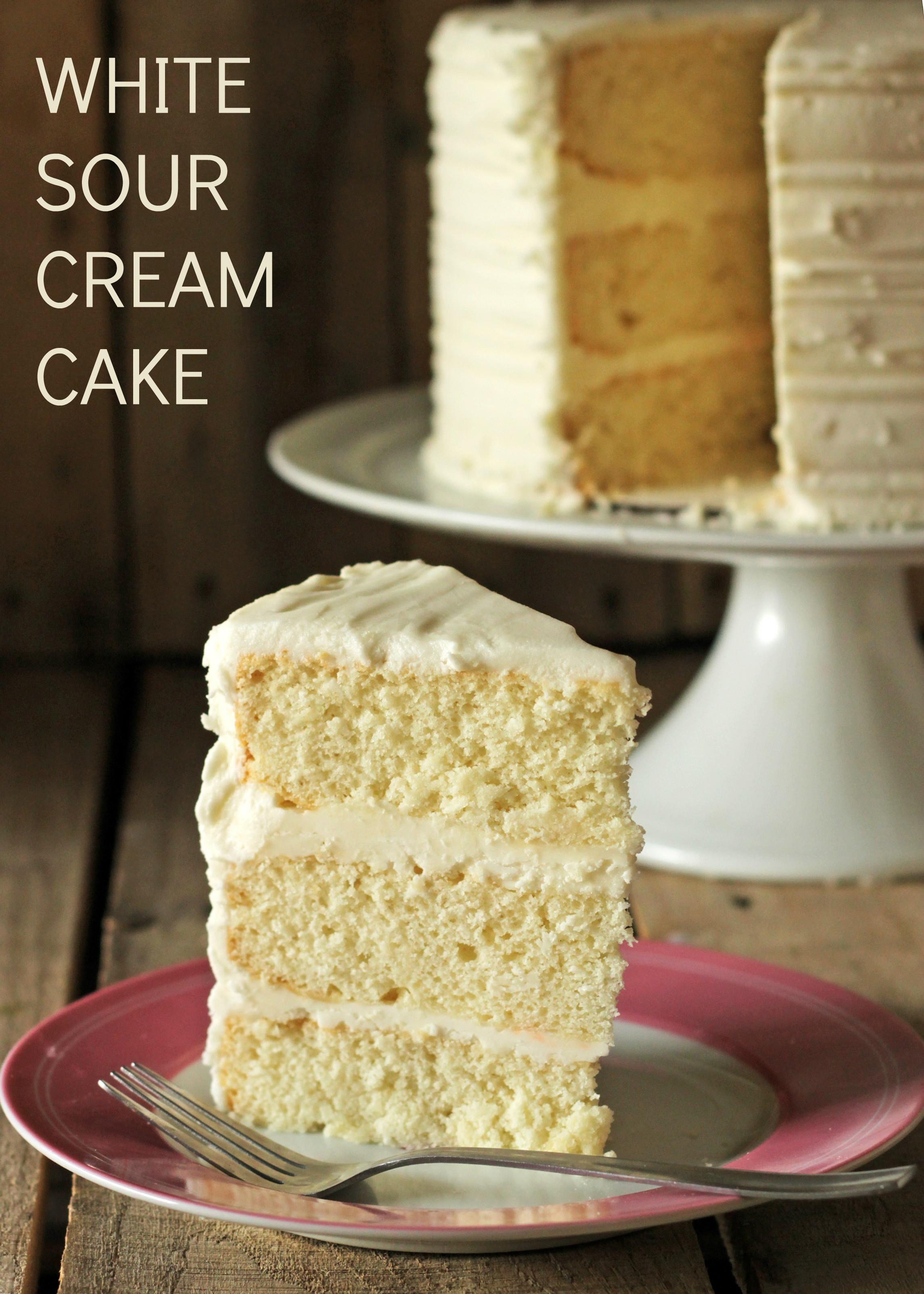 Wedding Cake Recipe Using Cake Mix  White Sour Cream Cake Recipe • CakeJournal