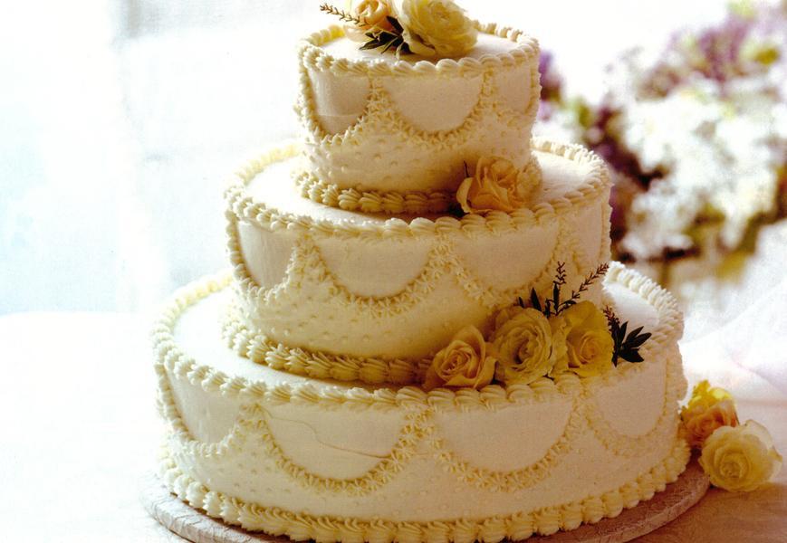 Wedding Cake Recipes  Classic White Wedding Cake