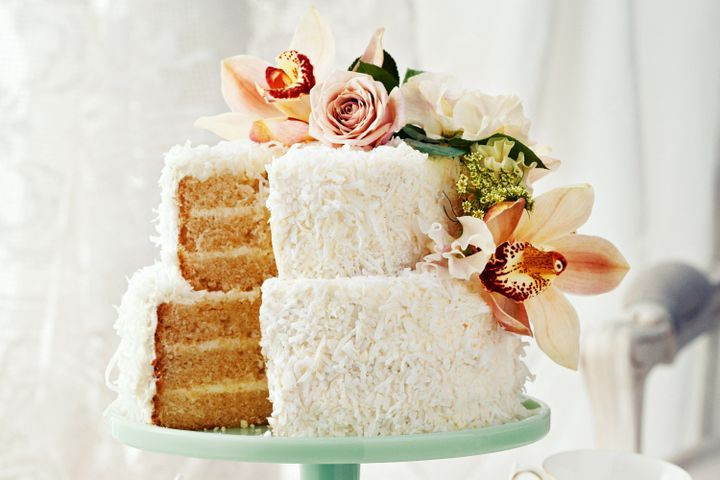 Wedding Cake Recipes For Tiered Cakes  Two tier coconut milk layer cake