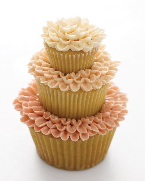 Wedding Cake Recipes Martha Stewart  Triple Tier Flower Cakes Recipe from Martha Stewart