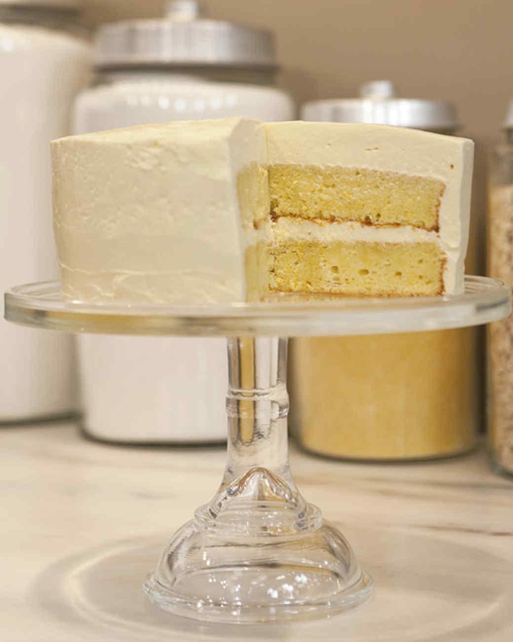 Wedding Cake Recipes Martha Stewart  Orange Almond Cake with Swiss Meringue Buttercream Recipe