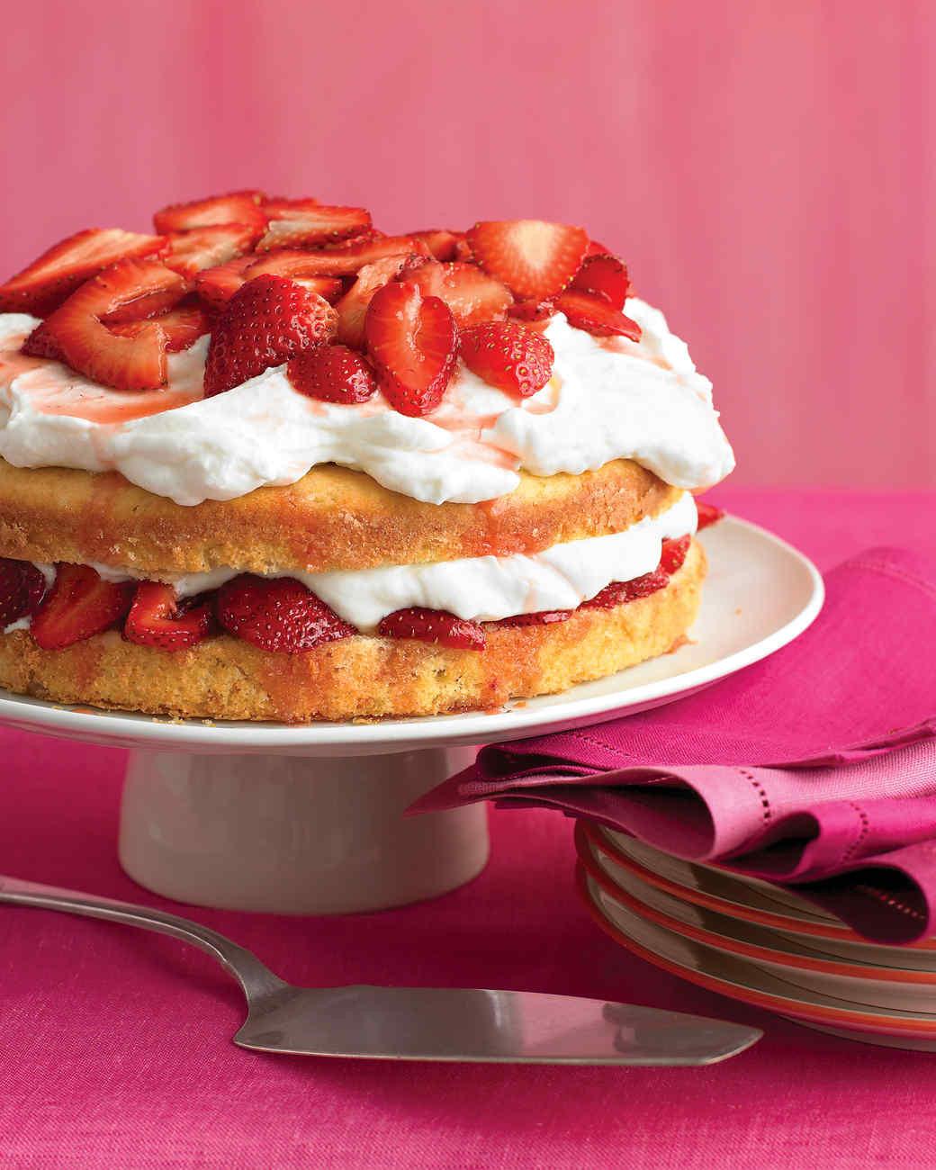 Wedding Cake Recipes Martha Stewart  Strawberry Cream Cake Recipe