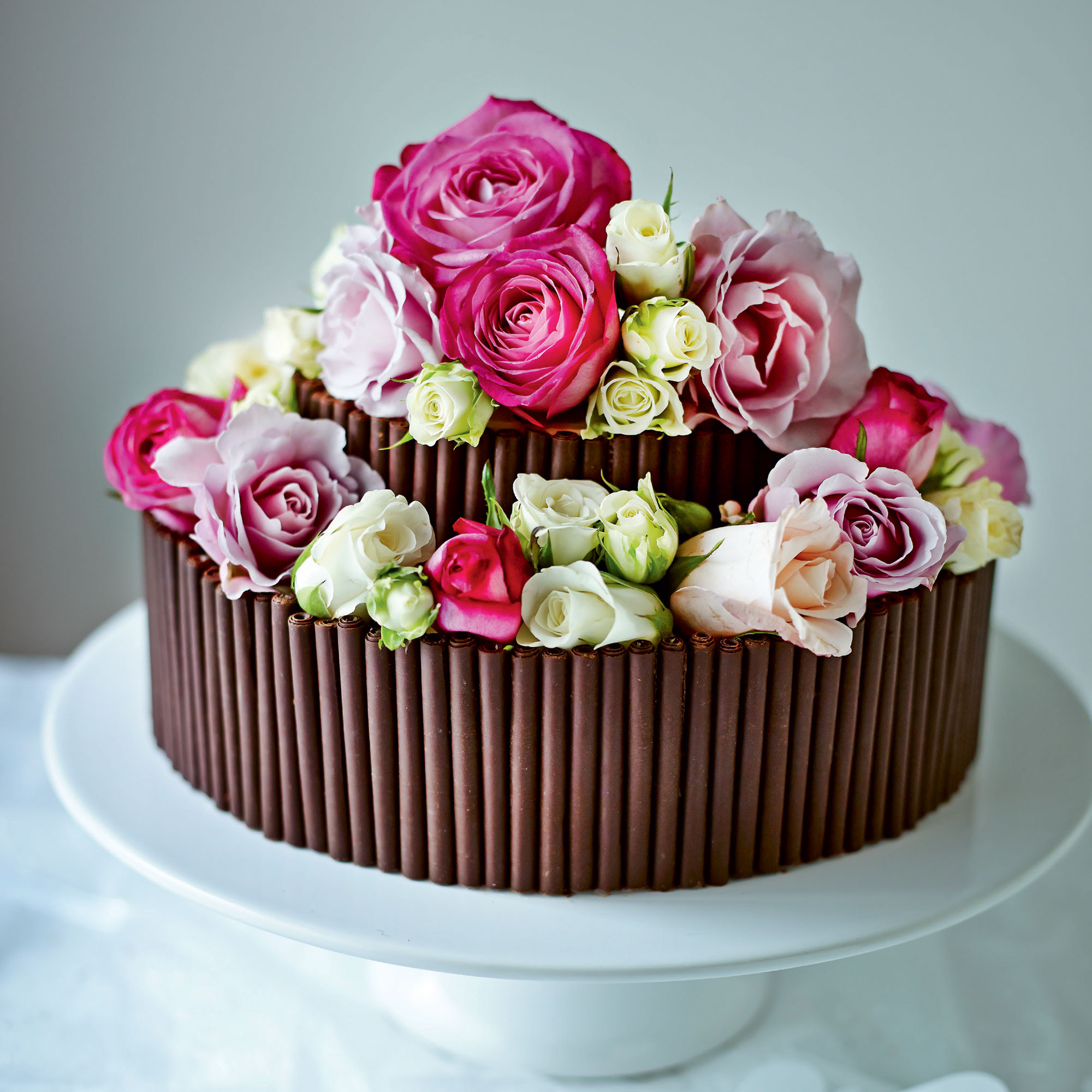 Wedding Cake Recipes  Jo Wheatley s Rose and Chocolate Wedding Cake Woman And Home