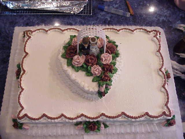 Wedding Cake Sheet Cake  Connies CakeBox Wedding Sheet Cakes