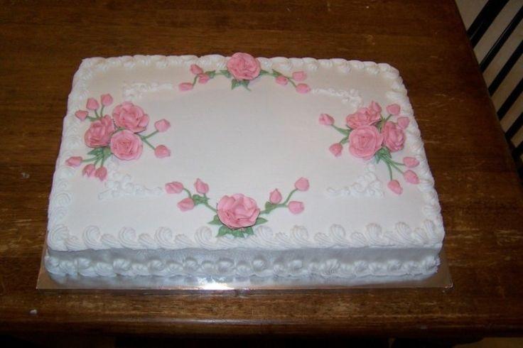 Wedding Cake Sheet Cake  76 best images about Cakes Sheet Cakes on Pinterest