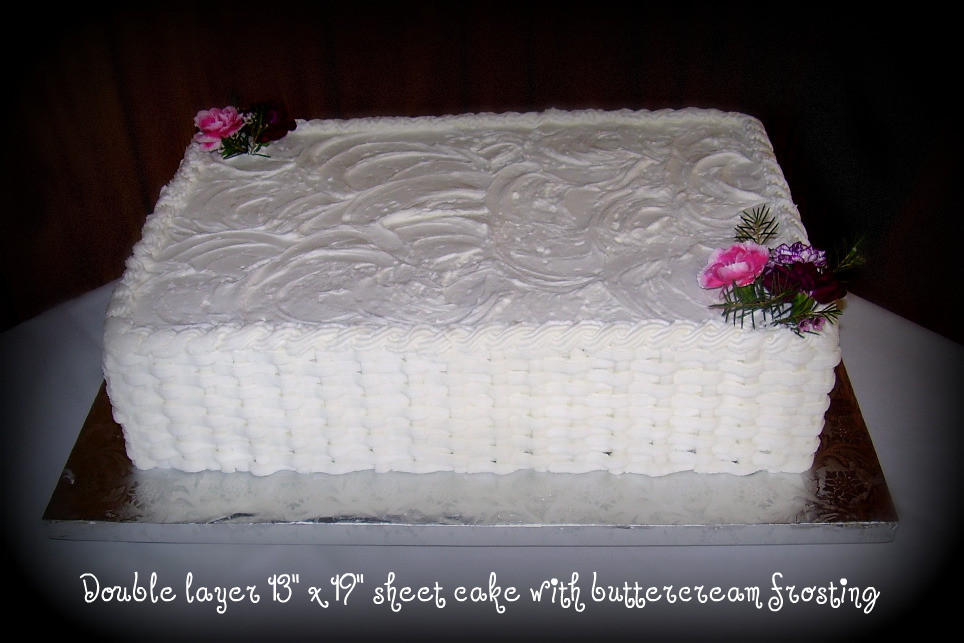 Wedding Cake Sheet Cake  Cut down your wedding costs by ordering a sheet cake