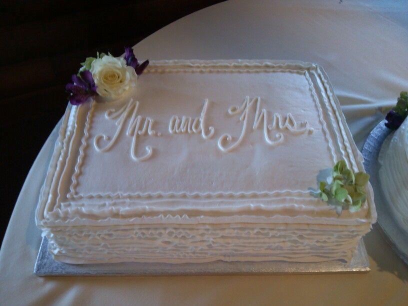 Wedding Cake Sheet Cake  Ribbon wedding sheet cake